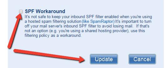 SPF Workaround SpamRaptor